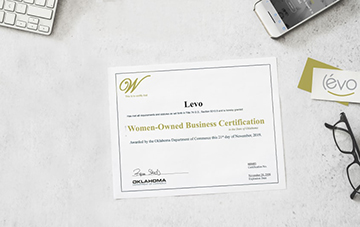 Levo earns certification as a women-owned small business.